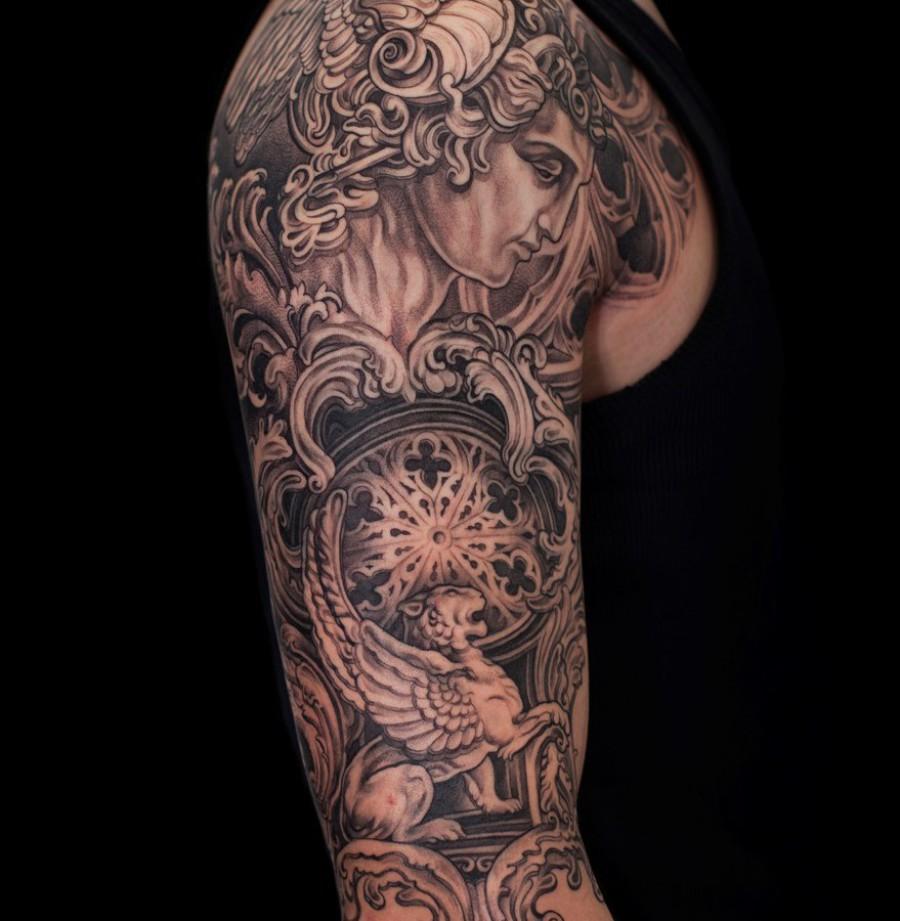 Tattoo Oberarm Katze