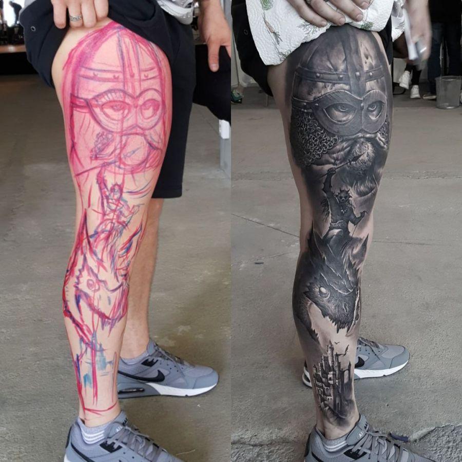 Tattoo Unterarm Hundekopf