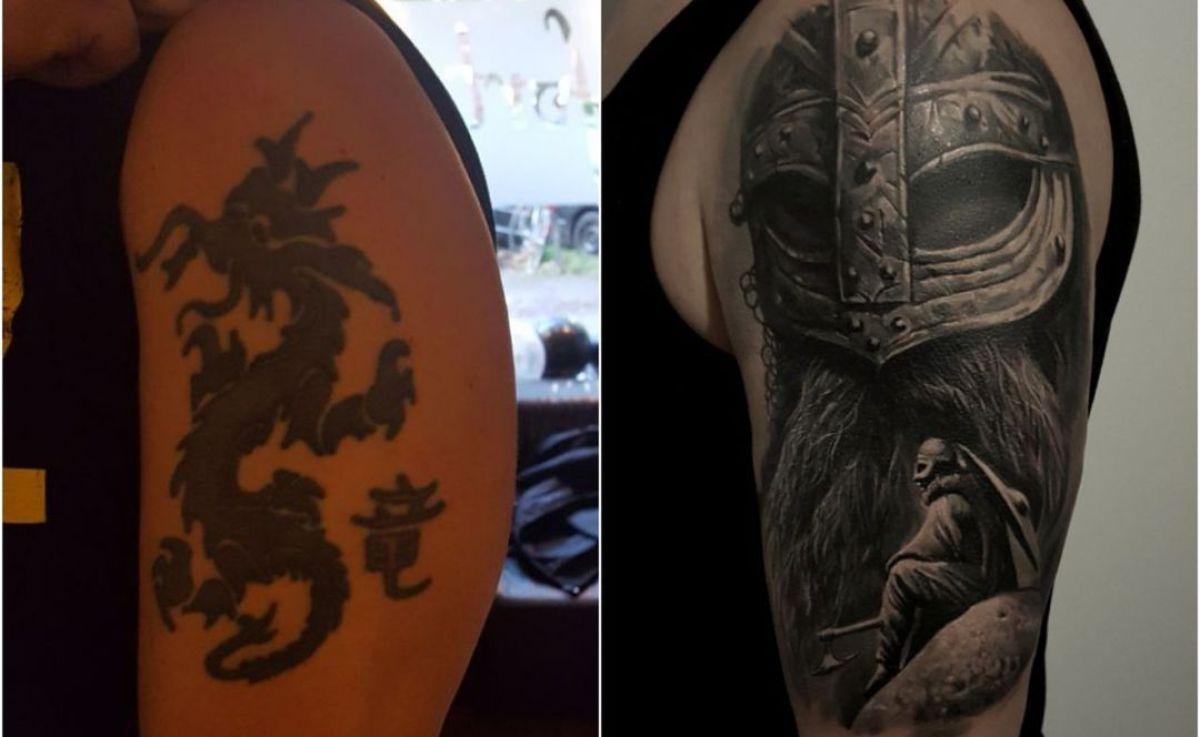 Unterarm Tattoo griech. Gott