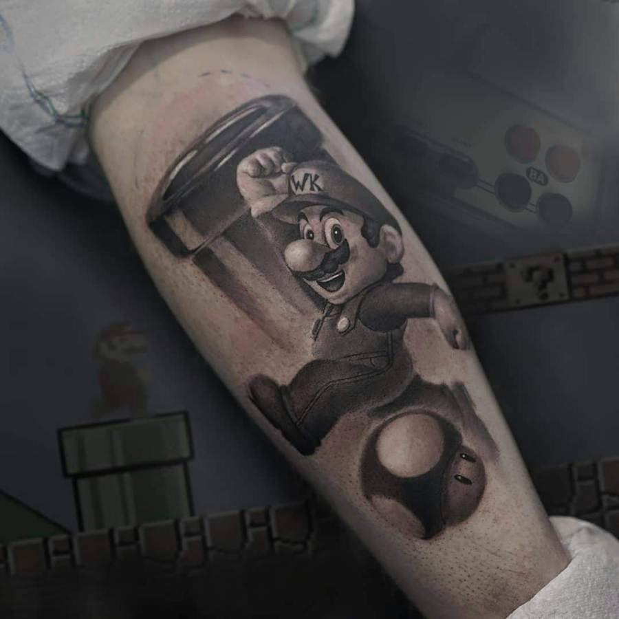 Tattoo Oberarm rund