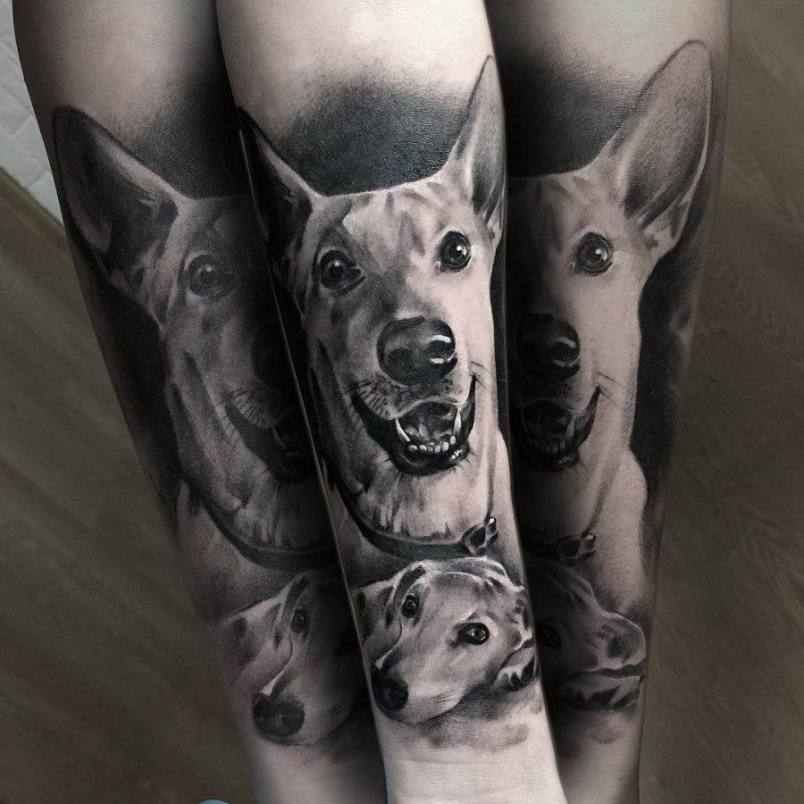 Tattoo Arm griechischer Gott