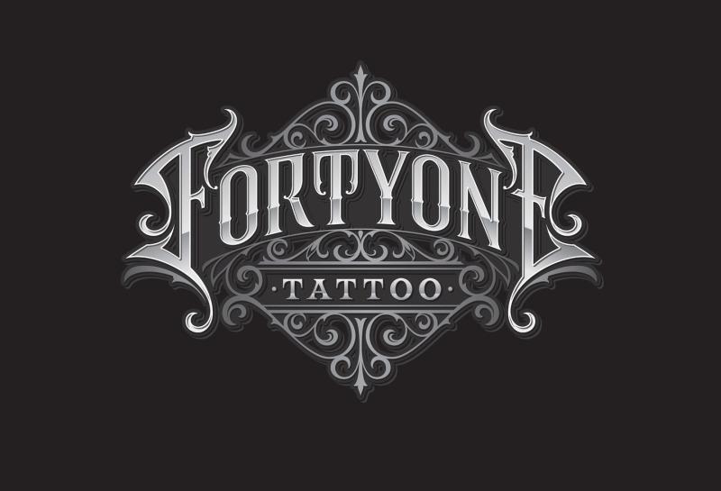 Schriftzug fortyone Tattoo