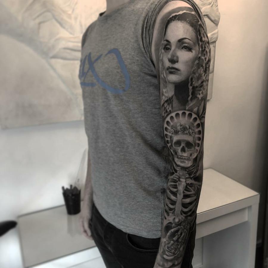 Tattoo Unterarm Friedenstaube