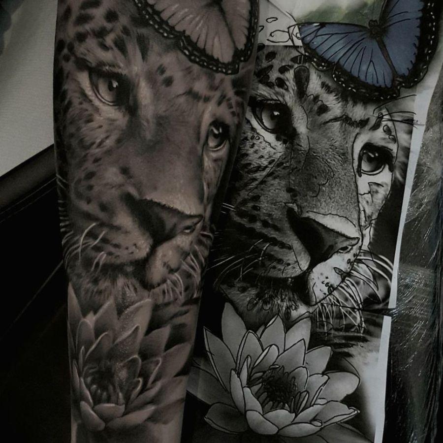 Tattoo Rücken dunkle Gestalten
