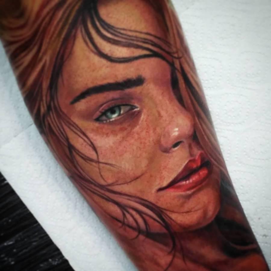 Tattoo Oberschenkel Krieger