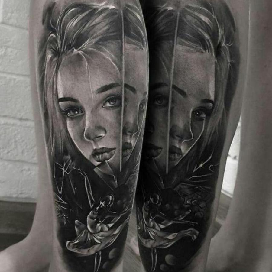 Tattoo Unterarm Totenkopf mit Rose